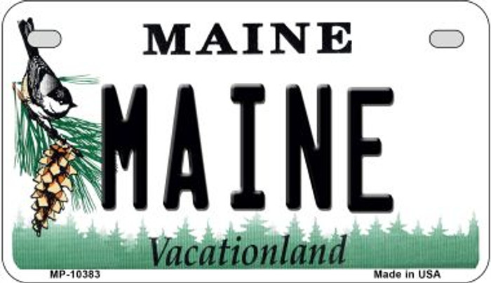 Maine Novelty Metal Motorcycle Plate MP-10383