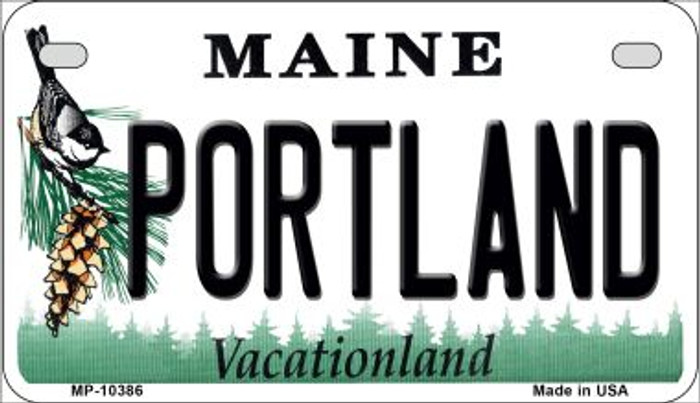 Portland Maine Novelty Metal Motorcycle Plate MP-10386