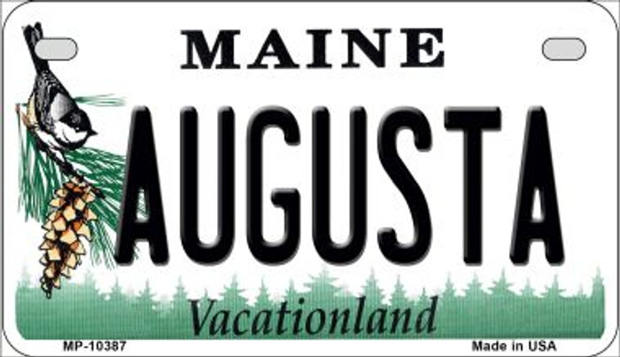 Augusta Maine Novelty Metal Motorcycle Plate MP-10387