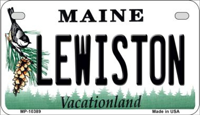 Lewiston Maine Novelty Metal Motorcycle Plate MP-10389
