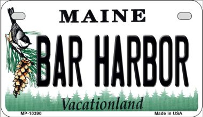 Bar Harbor Maine Novelty Metal Motorcycle Plate MP-10390