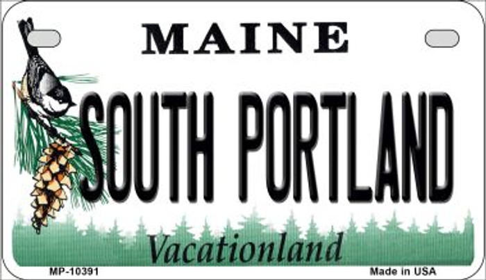 South Portland Maine Novelty Metal Motorcycle Plate MP-10391