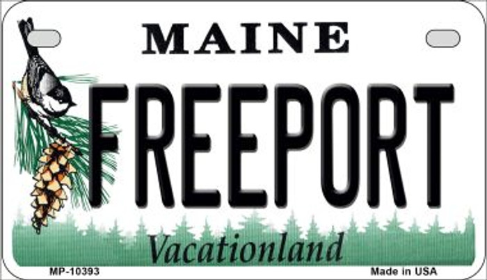 Freeport Maine Novelty Metal Motorcycle Plate MP-10393