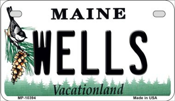 Wells Maine Novelty Metal Motorcycle Plate MP-10394