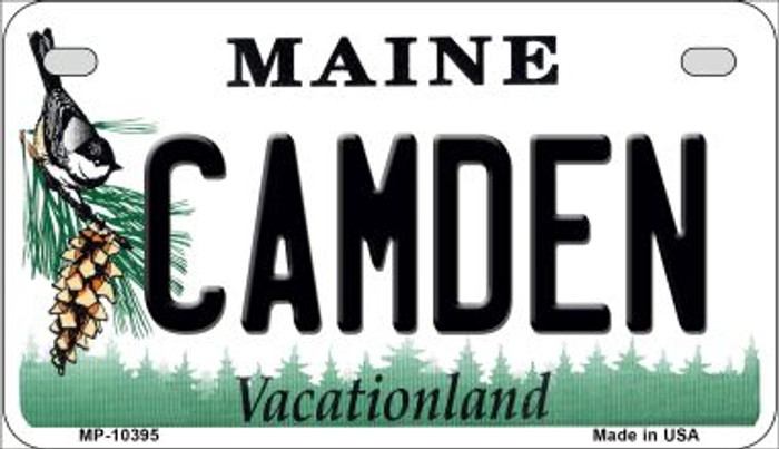 Camden Maine Novelty Metal Motorcycle Plate MP-10395