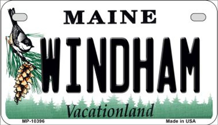 Windham Maine Novelty Metal Motorcycle Plate MP-10396