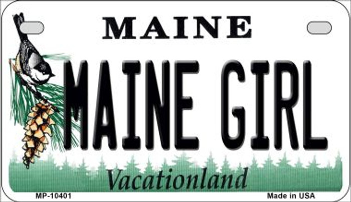 Maine Girl Novelty Metal Motorcycle Plate MP-10401