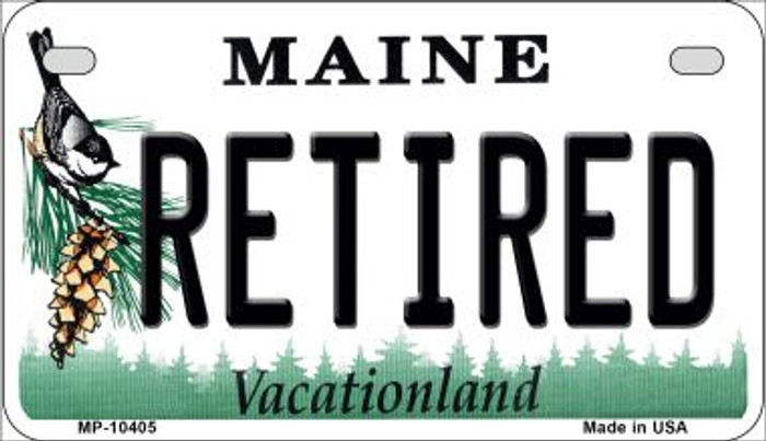 Retired Maine Novelty Metal Motorcycle Plate MP-10405