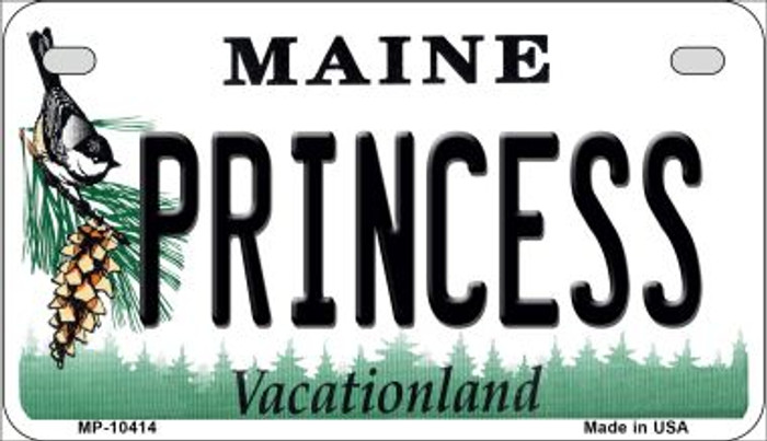 Princess Maine Novelty Metal Motorcycle Plate MP-10414