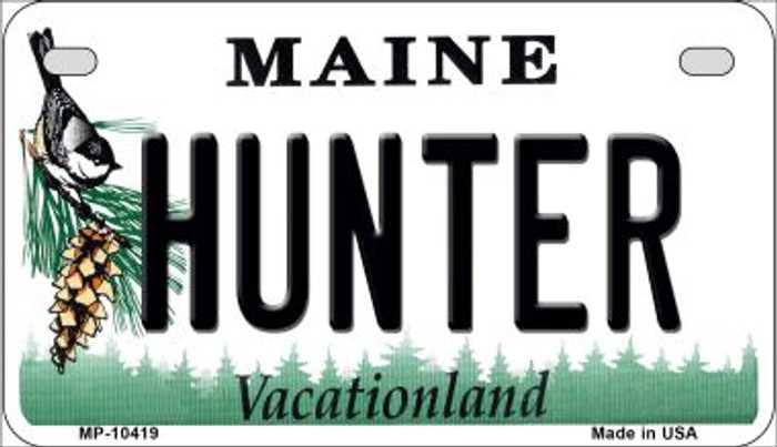 Hunter Maine Novelty Metal Motorcycle Plate MP-10419