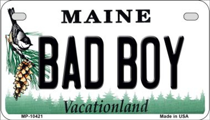 Bad Boy Maine Novelty Metal Motorcycle Plate MP-10421