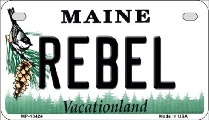 Rebel Maine Novelty Metal Motorcycle Plate MP-10424