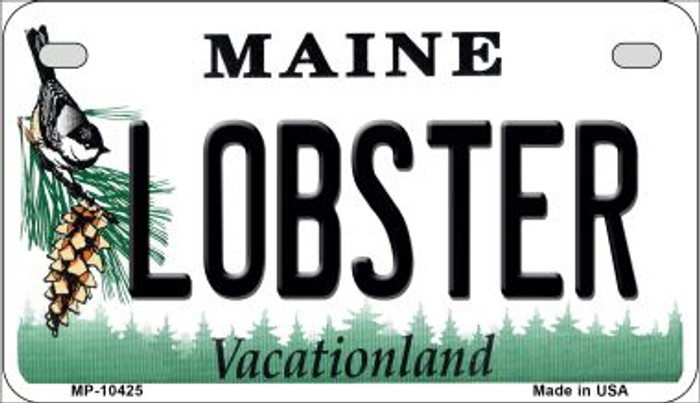 Lobster Maine Novelty Metal Motorcycle Plate MP-10425