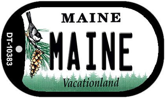 Maine Novelty Metal Dog Tag Necklace DT-10383