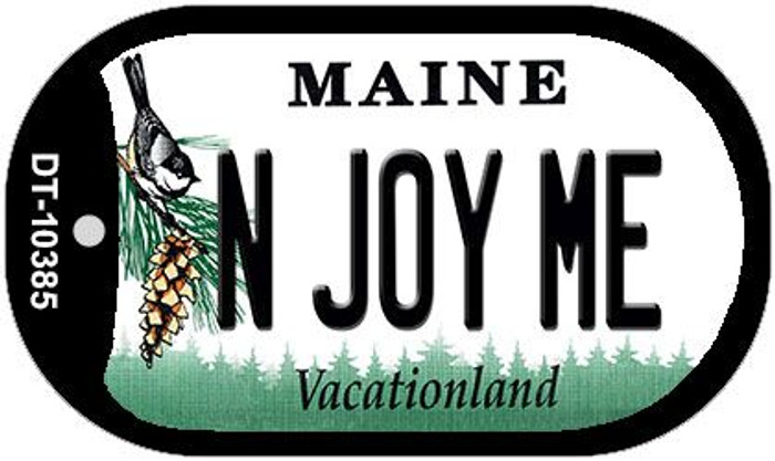 N Joy ME Maine Novelty Metal Dog Tag Necklace DT-10385