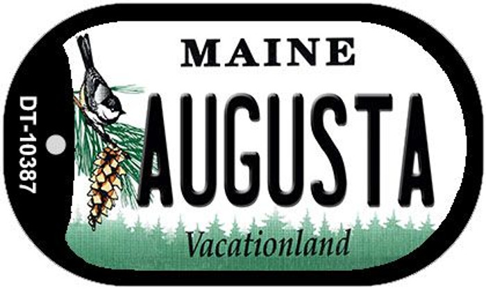 Augusta Maine Novelty Metal Dog Tag Necklace DT-10387