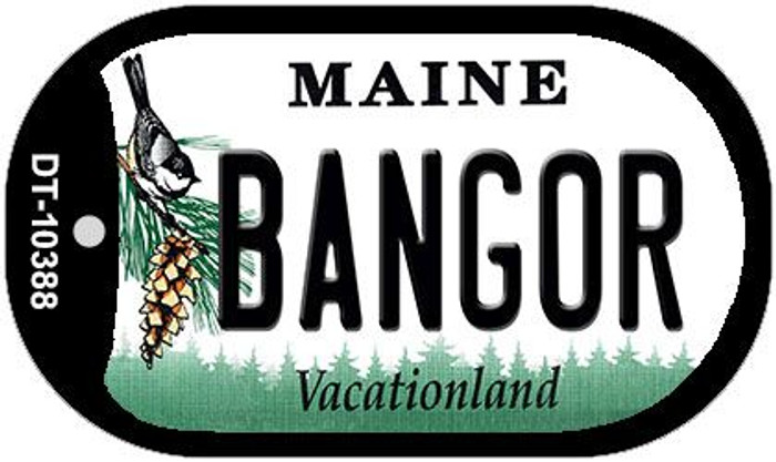 Bangor Maine Novelty Metal Dog Tag Necklace DT-10388