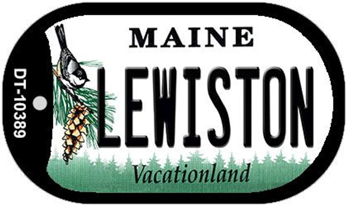 Lewiston Maine Novelty Metal Dog Tag Necklace DT-10389