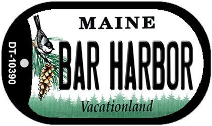 Bar Harbor Maine Novelty Metal Dog Tag Necklace DT-10390