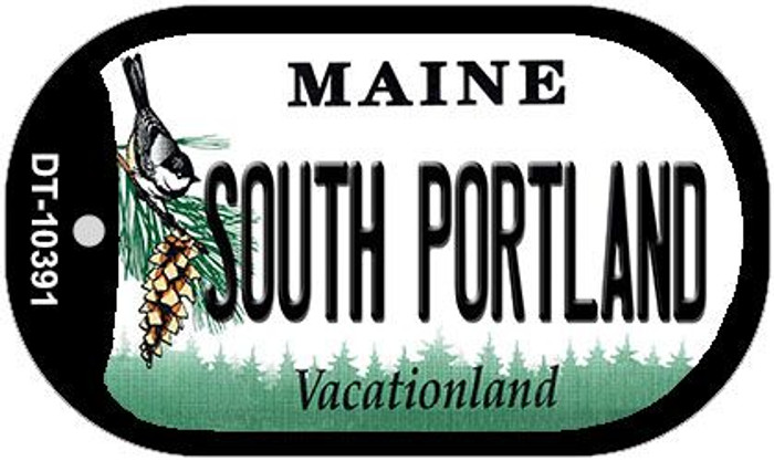 South Portland Maine Novelty Metal Dog Tag Necklace DT-10391