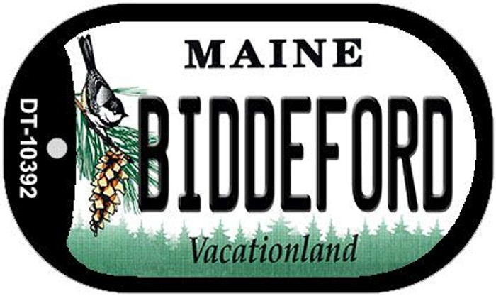 Biddeford Maine Novelty Metal Dog Tag Necklace DT-10392