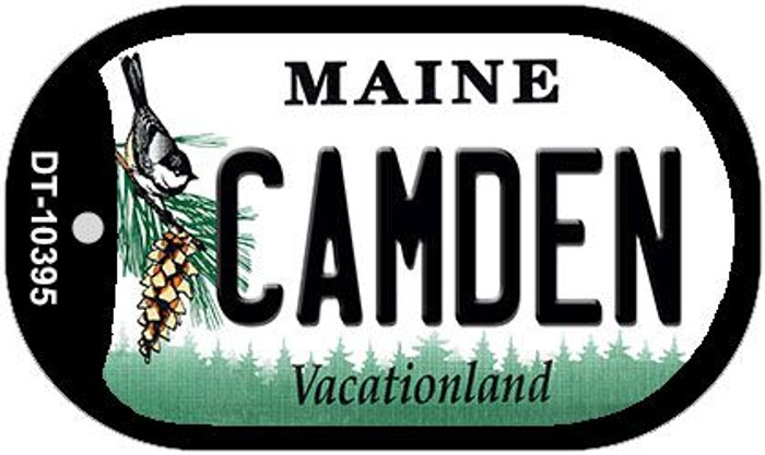 Camden Maine Novelty Metal Dog Tag Necklace DT-10395