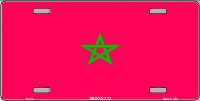Morocco Flag Metal Novelty License Plate LP-4101
