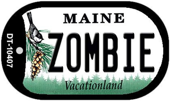 Zombie Maine Novelty Metal Dog Tag Necklace DT-10407
