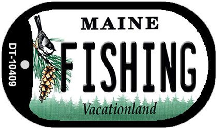 Fishing Maine Novelty Metal Dog Tag Necklace DT-10409
