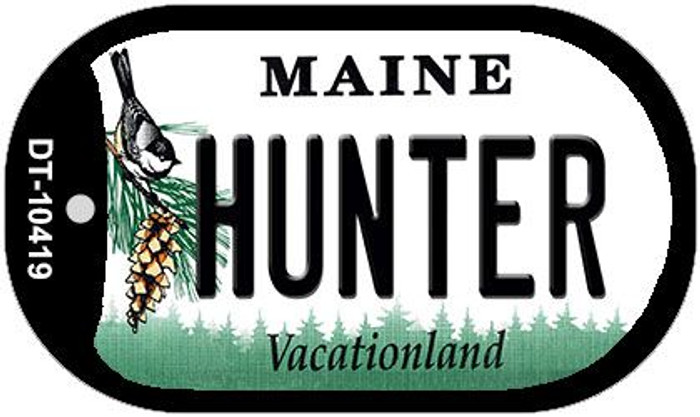 Hunter Maine Novelty Metal Dog Tag Necklace DT-10419