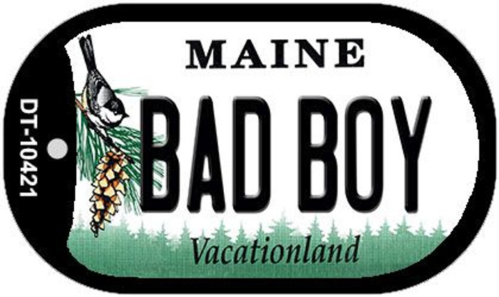 Bad Boy Maine Novelty Metal Dog Tag Necklace DT-10421