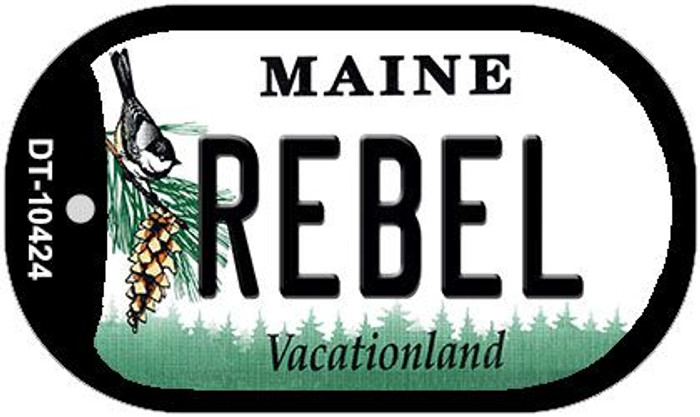 Rebel Maine Novelty Metal Dog Tag Necklace DT-10424