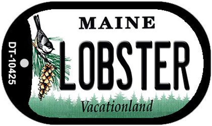 Lobster Maine Novelty Metal Dog Tag Necklace DT-10425