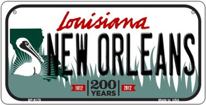 New Orleans Louisiana Novelty Metal Bicycle Plate BP-6179