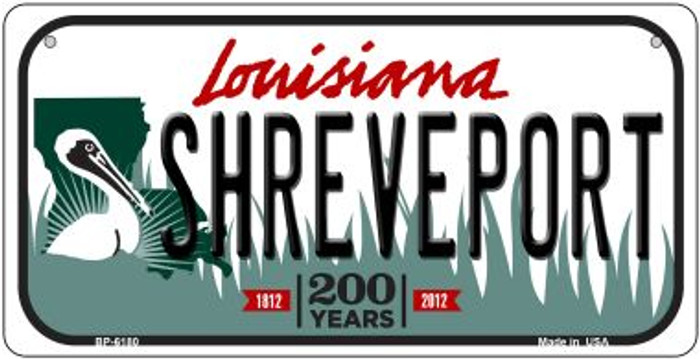 Shreveport Louisiana Novelty Metal Bicycle Plate BP-6180
