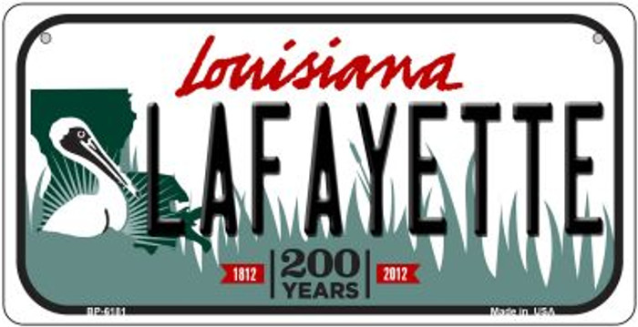 Lafayette Louisiana Novelty Metal Bicycle Plate BP-6181