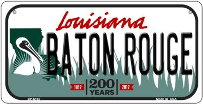 Baton Rouge Louisiana Novelty Metal Bicycle Plate BP-6182