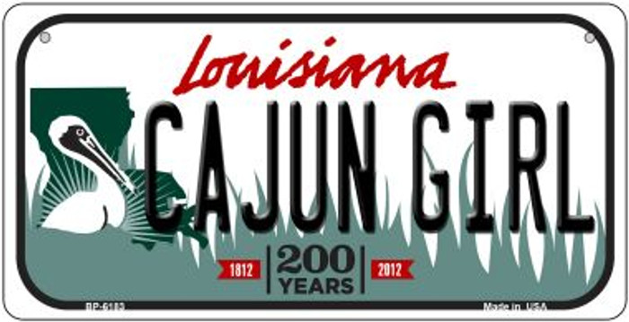 Cajun Girl Louisiana Novelty Metal Bicycle Plate BP-6183