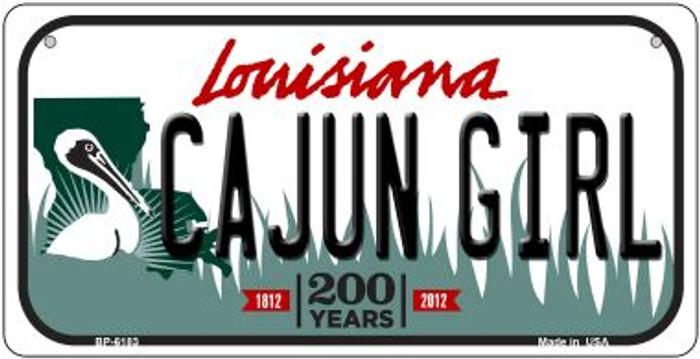 Cajun Girl Louisiana Novelty Metal Bicycle Plate BP-6183