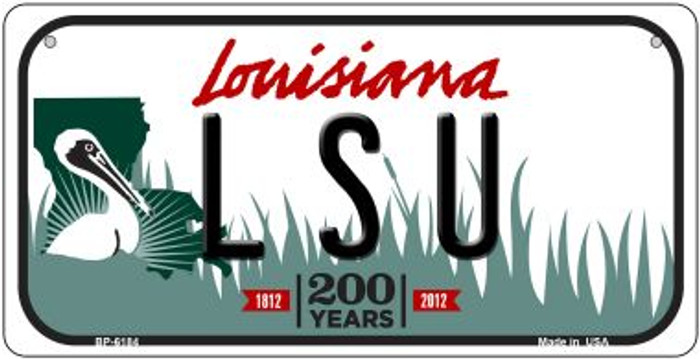 LSU Louisiana Novelty Metal Bicycle Plate BP-6184