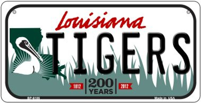 Tigers Louisiana Novelty Metal Bicycle Plate BP-6185