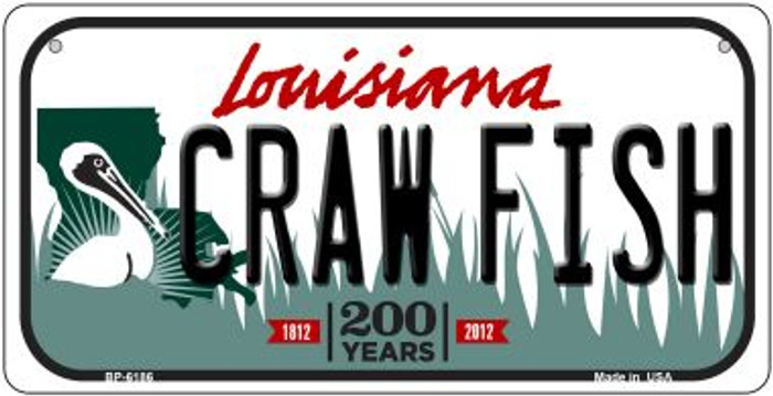 Craw Fish Louisiana Novelty Metal Bicycle Plate BP-6186
