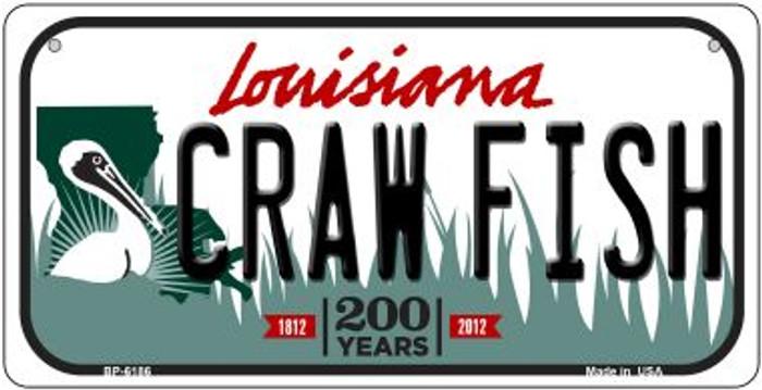 Craw Fish Louisiana Novelty Metal Bicycle Plate BP-6186