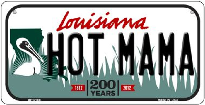 Hot Mama Louisiana Novelty Metal Bicycle Plate BP-6188