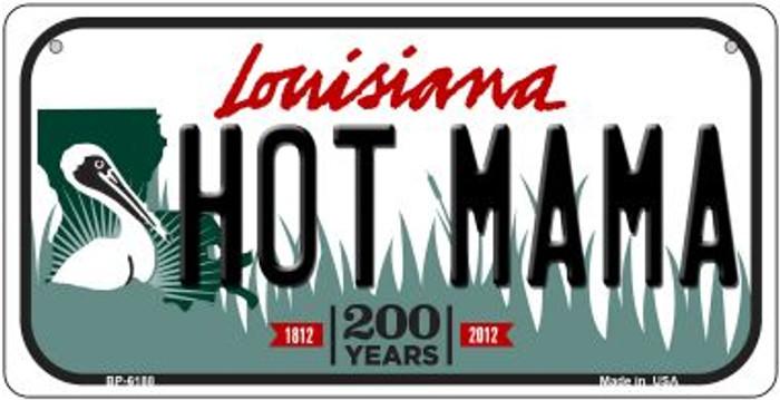 Hot Mama Louisiana Novelty Metal Bicycle Plate BP-6188