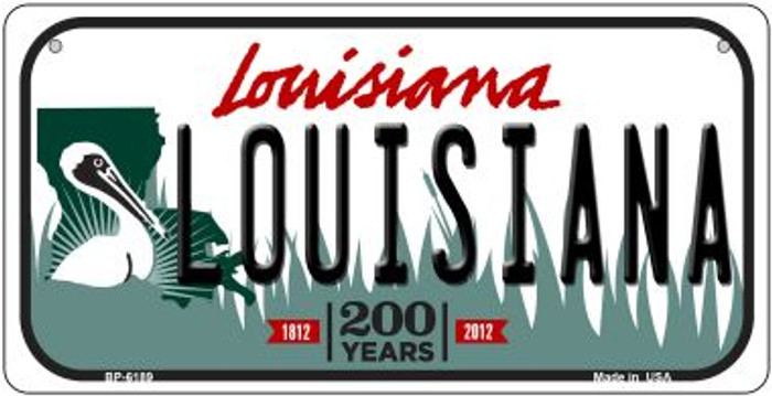 Louisiana Louisiana Novelty Metal Bicycle Plate BP-6189