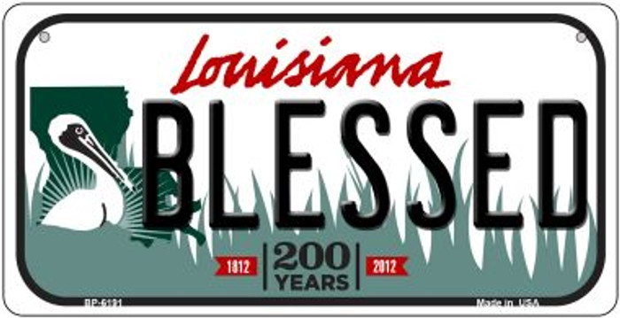 Blessed Louisiana Novelty Metal Bicycle Plate BP-6191