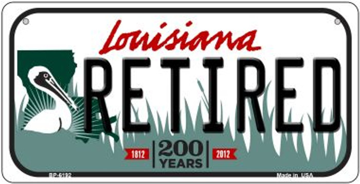 Retired Louisiana Novelty Metal Bicycle Plate BP-6192