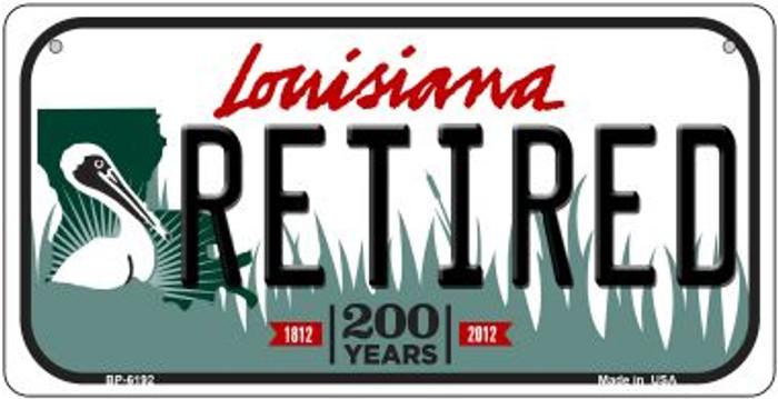 Retired Louisiana Novelty Metal Bicycle Plate BP-6192