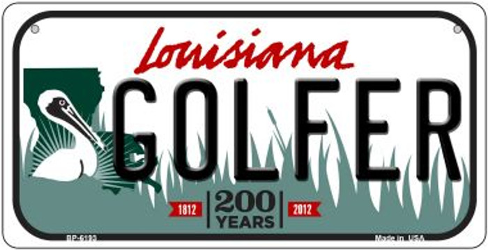 Golfer Louisiana Novelty Metal Bicycle Plate BP-6193